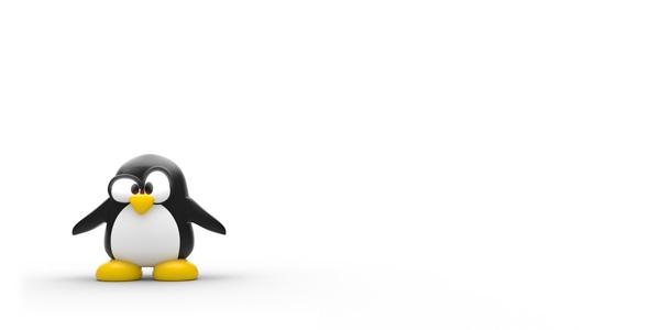 tux penguin 3d rendering