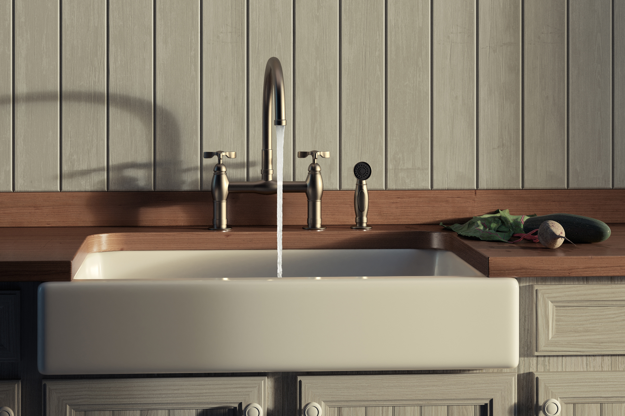 3d rendering of kitchen faucet and beet