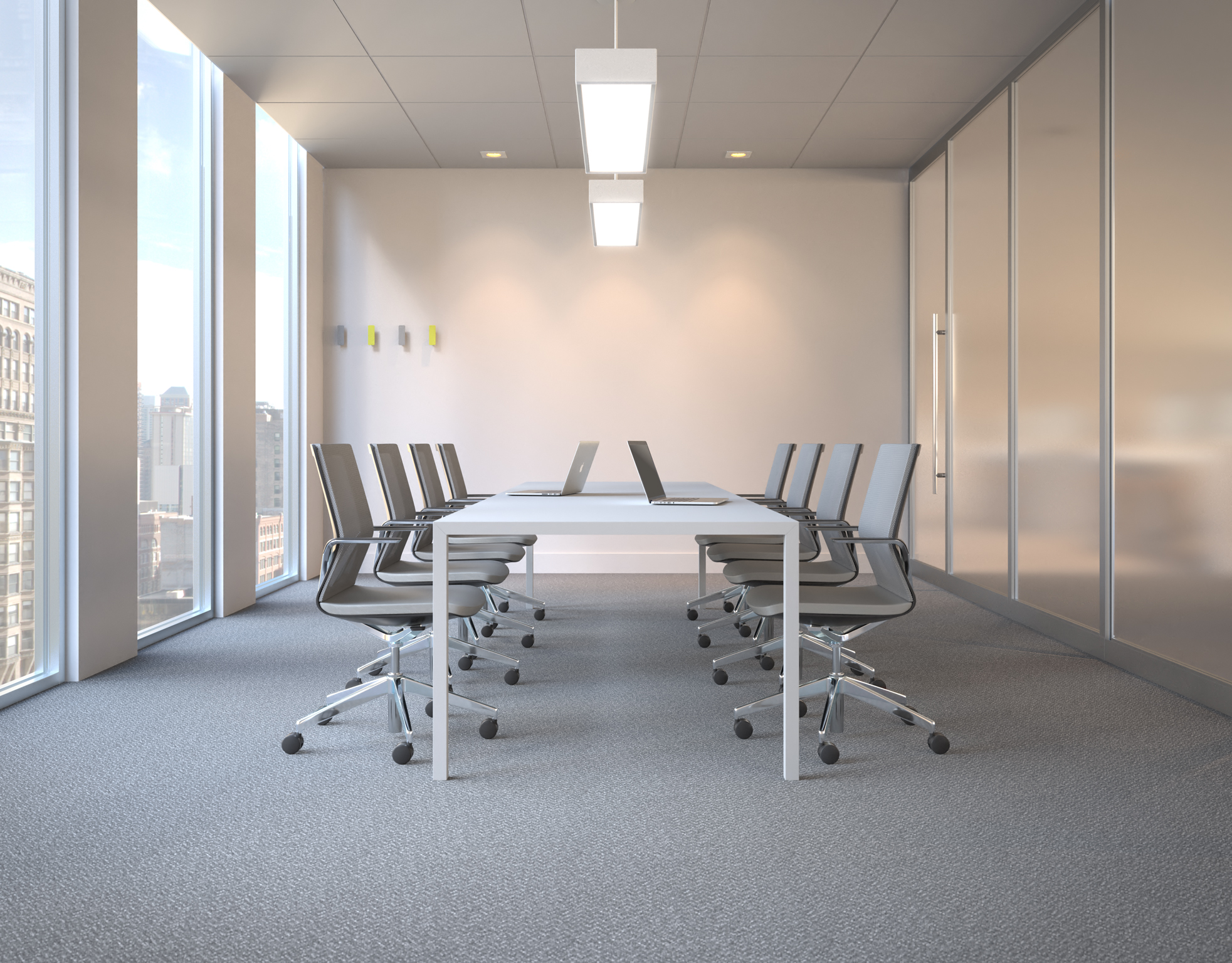 office conference room furniture 3d rendering