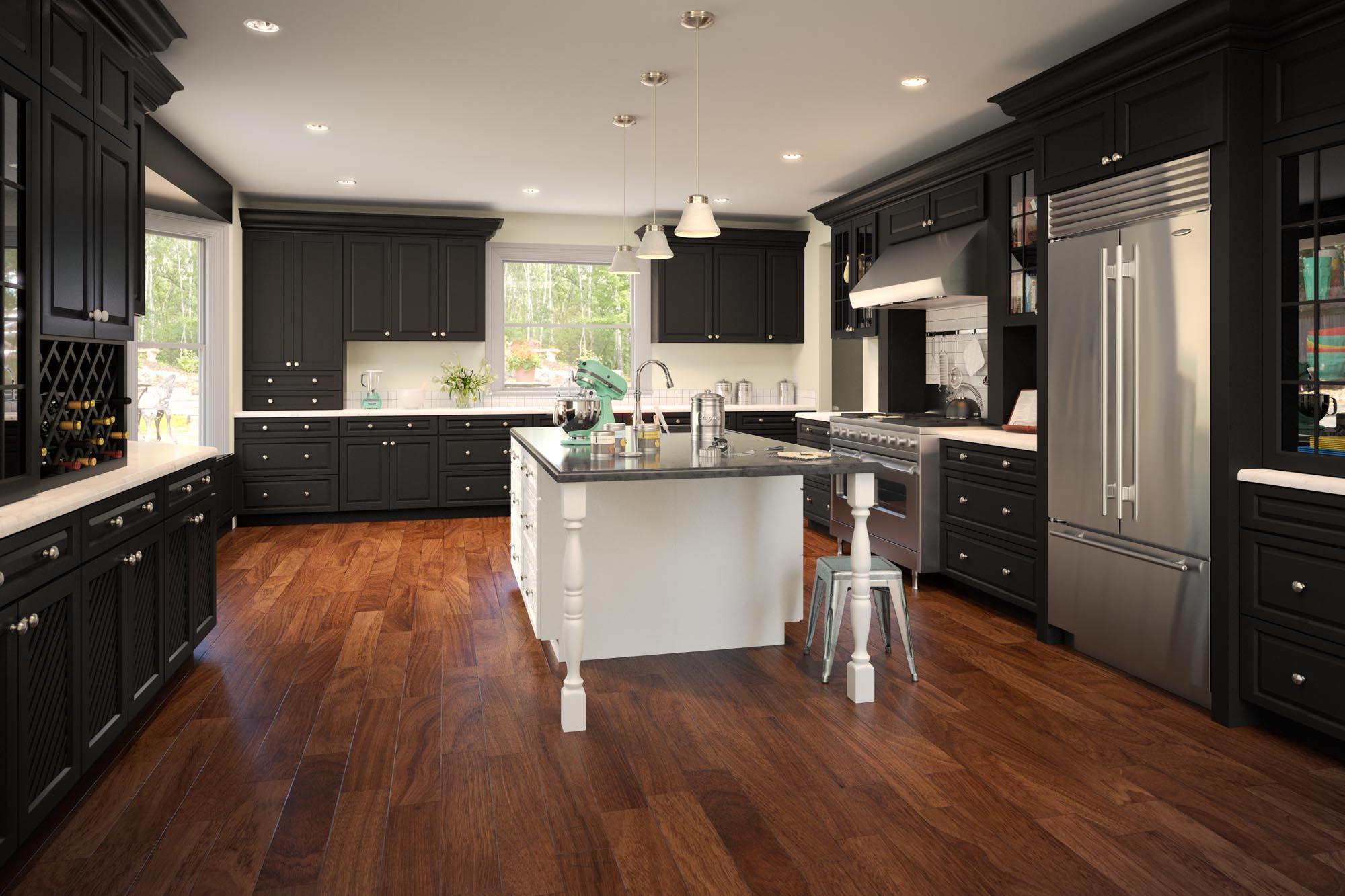 dark_kitchen_cabinets_wood_floor