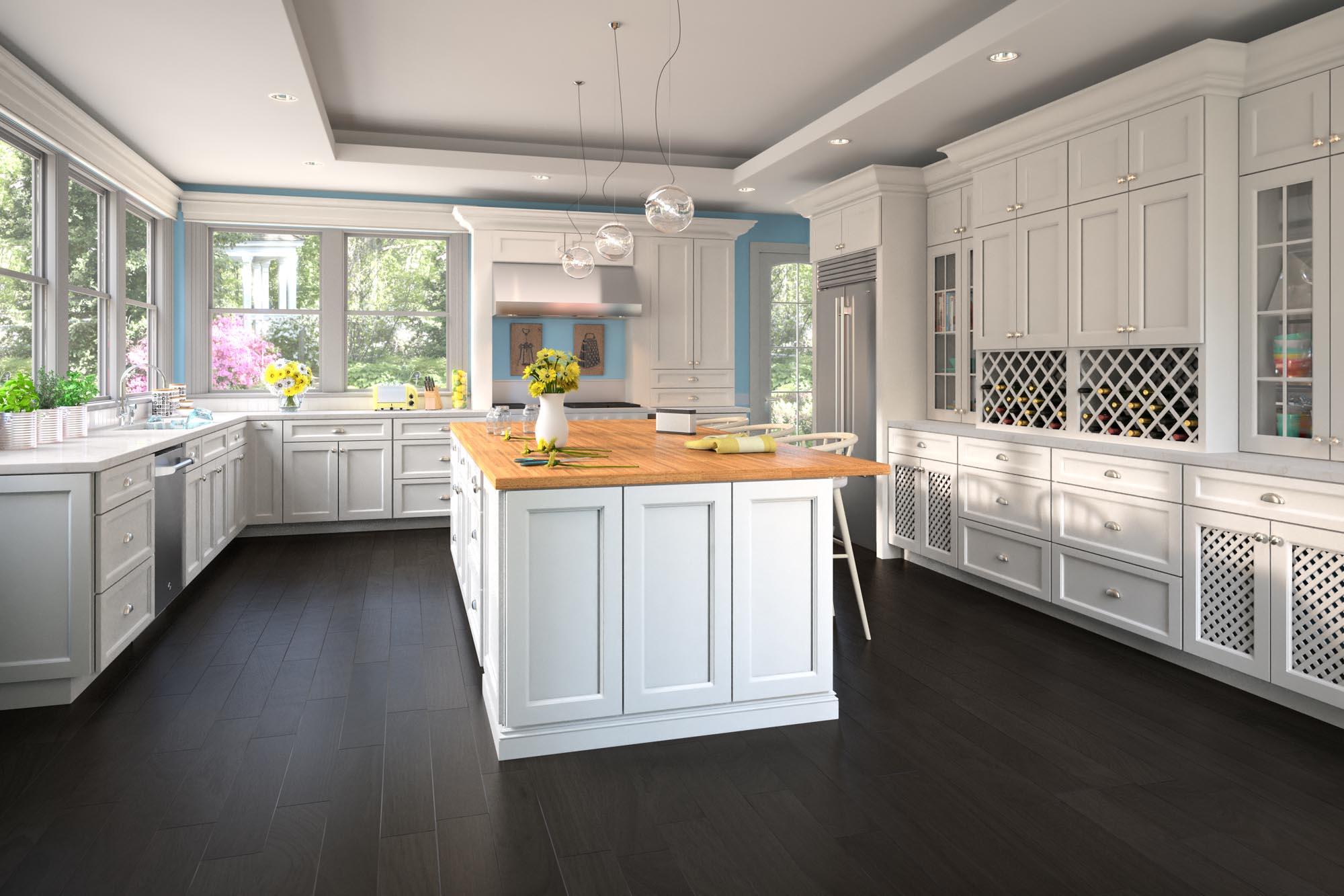 white_kitchen_cabinets_dark_floor