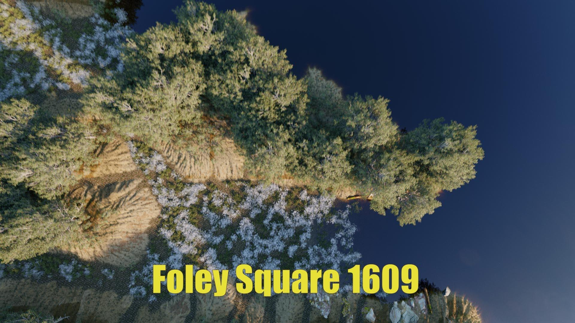 Aerial historical recreation 3d rendering of Collect Pond and Foley Square in New York City circa 1600