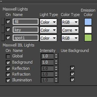Maxwell Light Lister